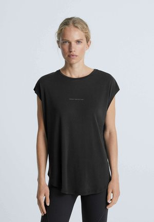 TEXT  - T-shirt basic - black