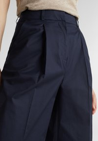 Esprit Collection - HIGH RISE CULOTTE - Trousers - navy - 4