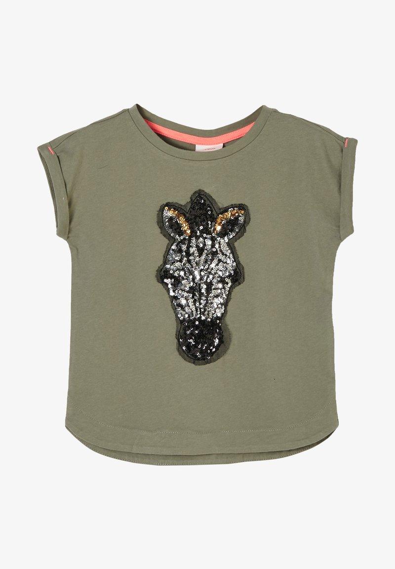 s.Oliver - Print T-shirt - khaki