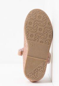 Friboo - Ankle strap ballet pumps - rose gold - 4