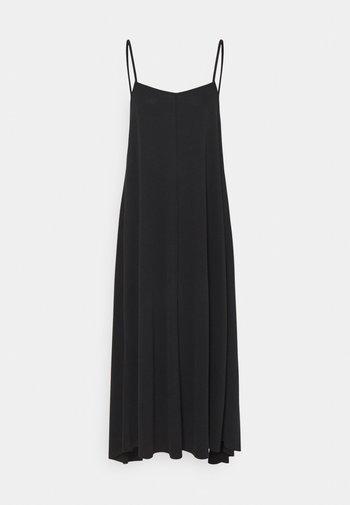 SLFFINIA MIDI STRAP DRESS - Jersey dress - black