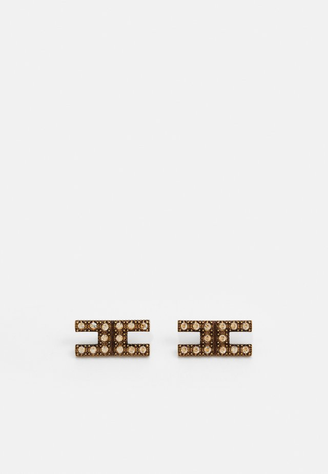 LOGO EARRINGS - Orecchini - oro