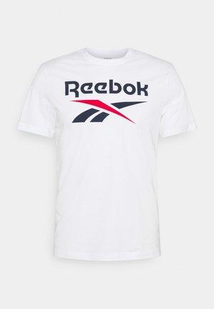 BIG LOGO TEE - Print T-shirt - white/vecnav