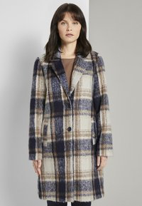 TOM TAILOR - EASY PLAID  - Classic coat - navy/sand - 0