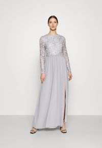 Nly by Nelly - LACE TRIM GOWN - Occasion wear - pearl grey - 0