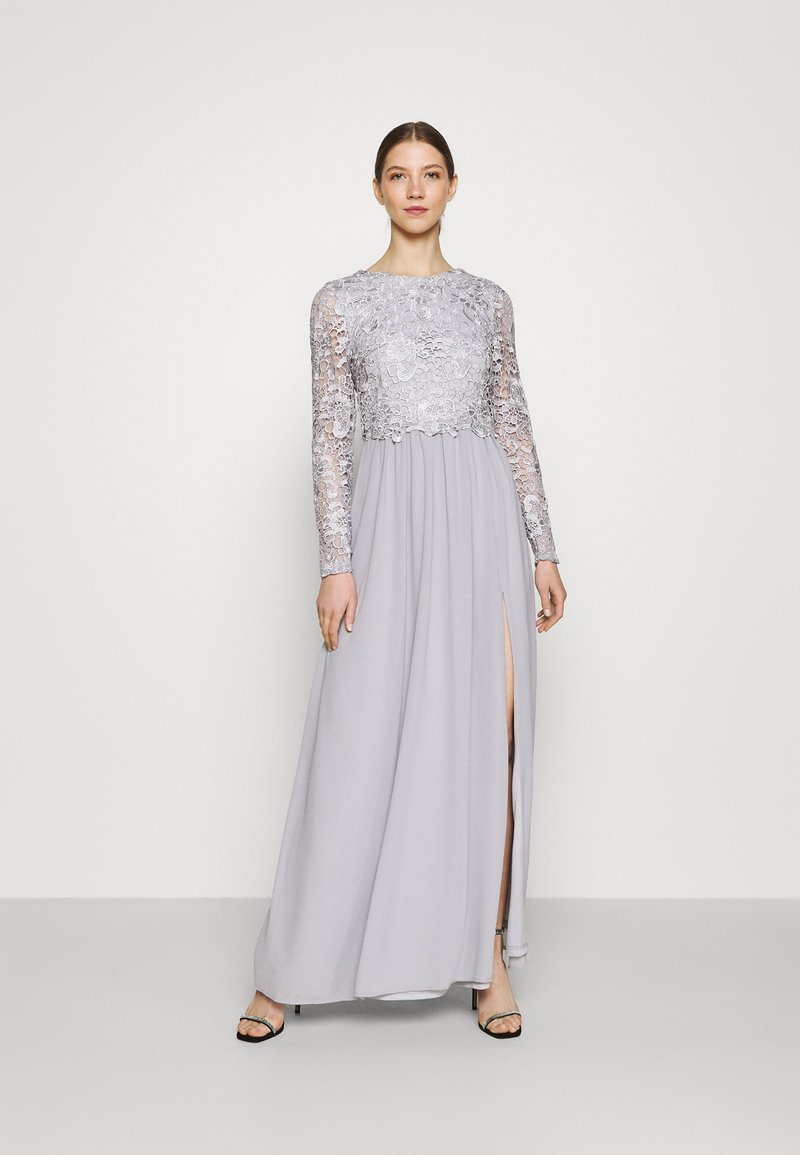 Nly by Nelly - LACE TRIM GOWN - Occasion wear - pearl grey