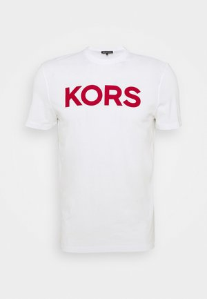 PLAID LOGO - T-shirt imprimé - white