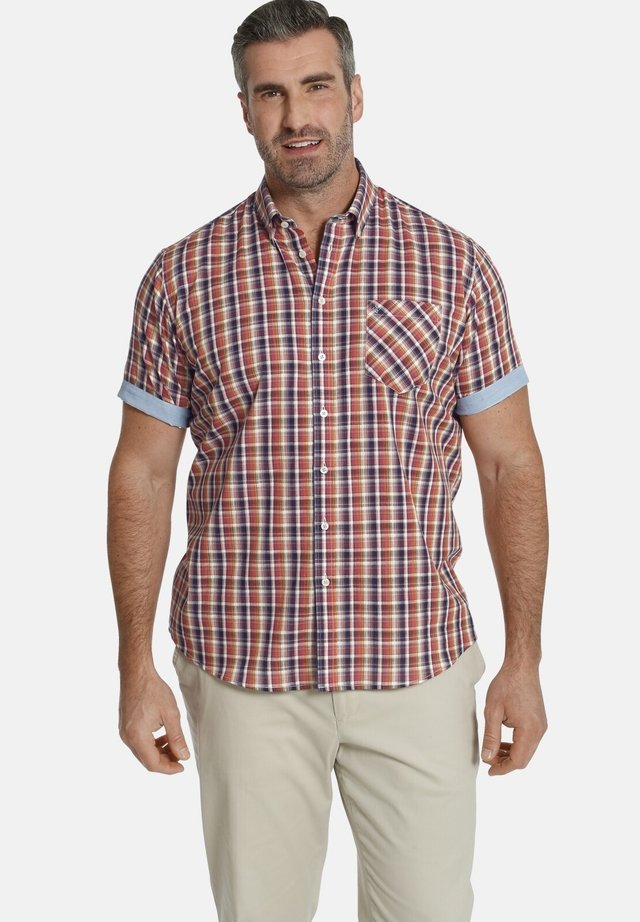 DUKE VILLOD - Overhemd - rot blau