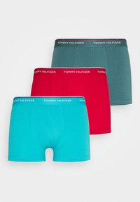 Tommy Hilfiger - TRUNK 3 PACK - Culotte - red/turquoise/teal - 5