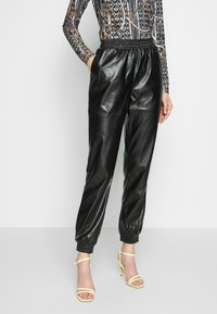 PIECES Tall - PCNELLAH PANTS - Trousers - black - 0