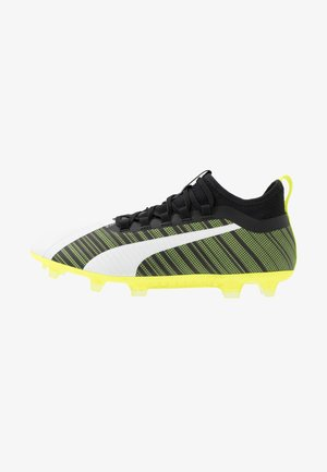 ONE 5.2 FG/AG - Moulded stud football boots - white/black/yellow alert