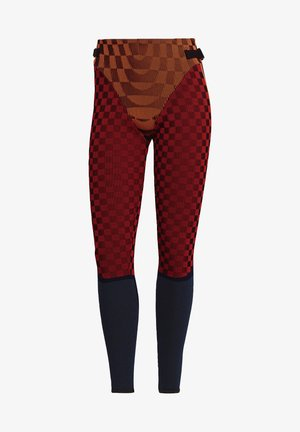 PAOLINA RUSSO COLLAB SPORTS INSPIRED SLIM TIGHTS - Leggings - Trousers - energy orange/black/scarlet