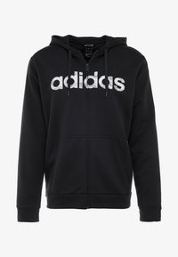 adidas Performance - CAMO LIN - Sweatjacke - black/white/grey one - 5