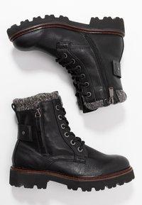 TOM TAILOR - Kotníkové boty na platformě - black - 3