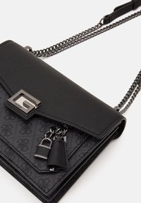 Guess - VALY CONVERTIBLE XBODY FLAP - Across body bag - coal - 3