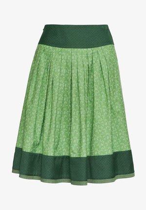 Pleated skirt - d.grün/grün