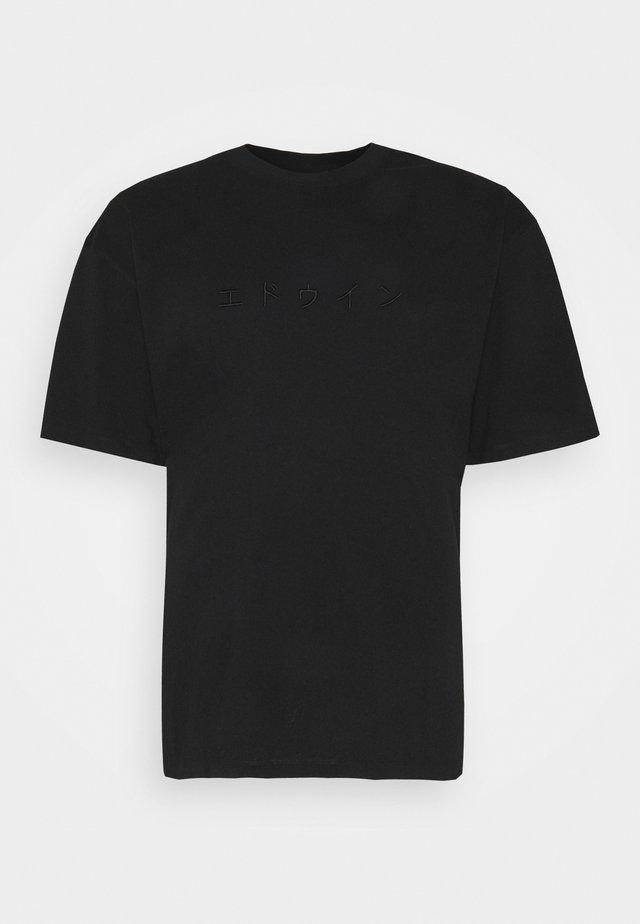 KATAKANA EMBROIDERY - T-shirt basic - black