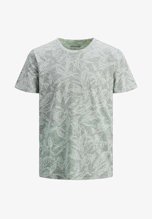JORLEFO TEE CREW NECK - Camiseta estampada - sea spray
