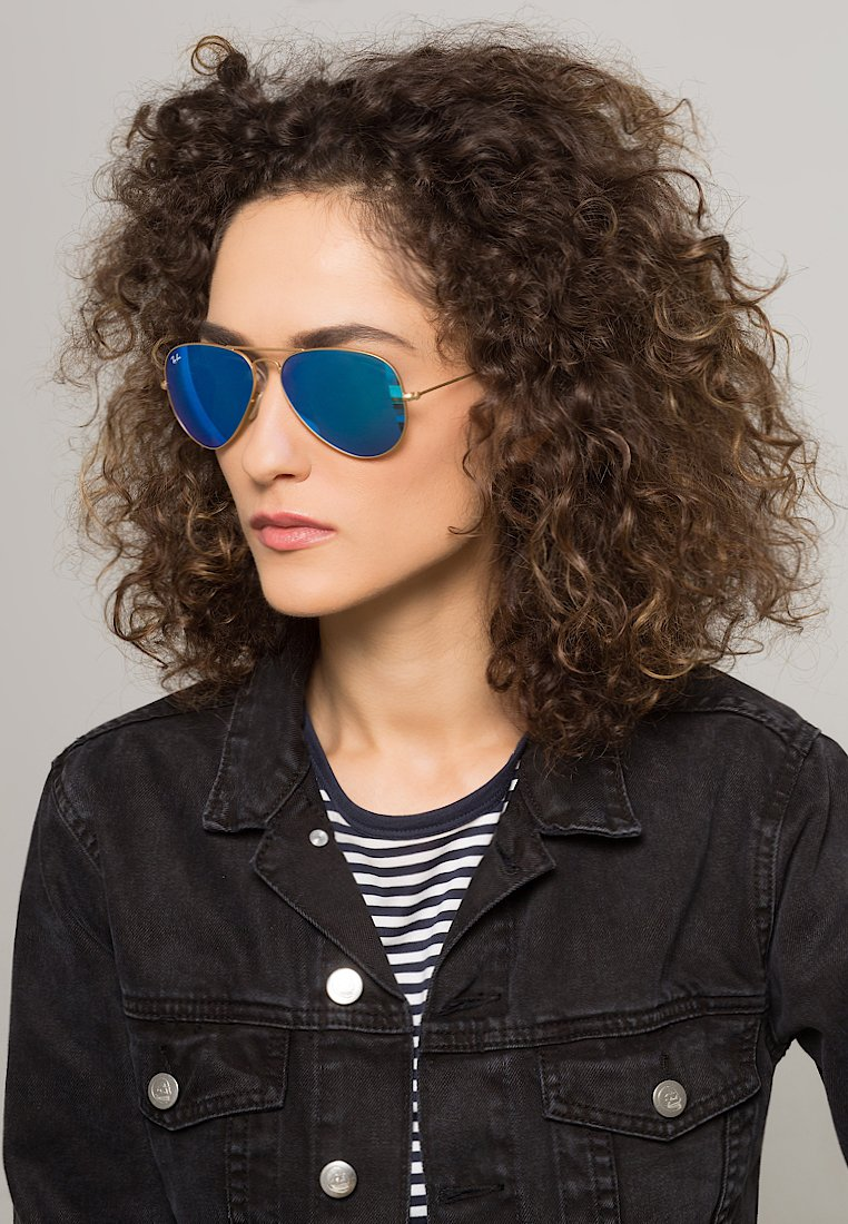 Ray-Ban - AVIATOR - Sunglasses - blau/goldfarben