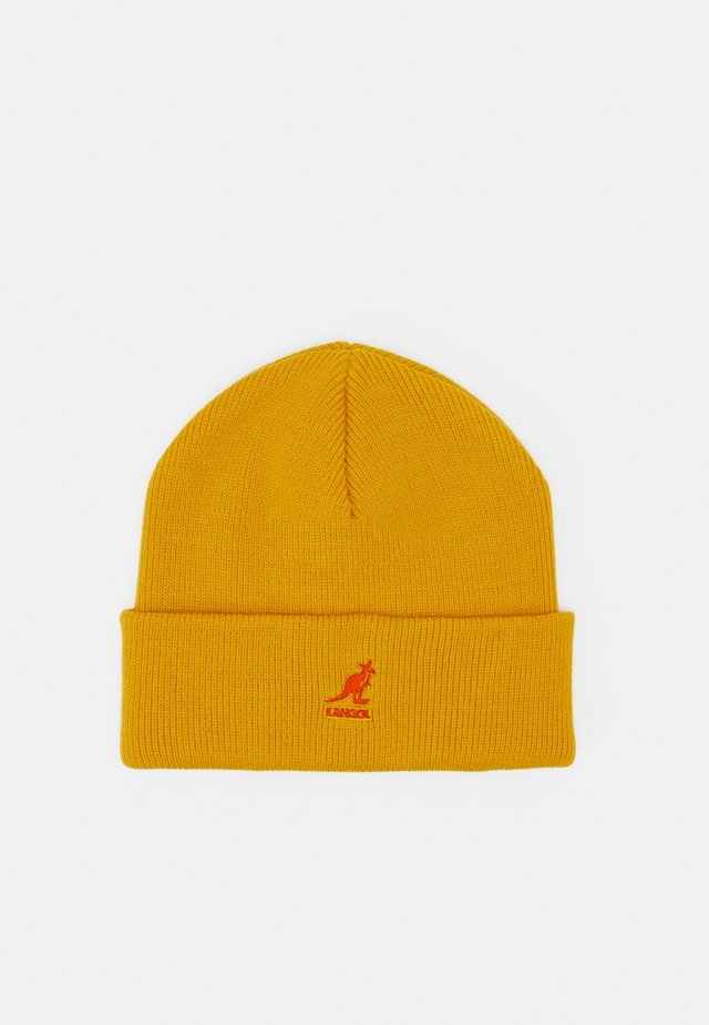 CUFF PULL ON UNISEX - Beanie - old gold