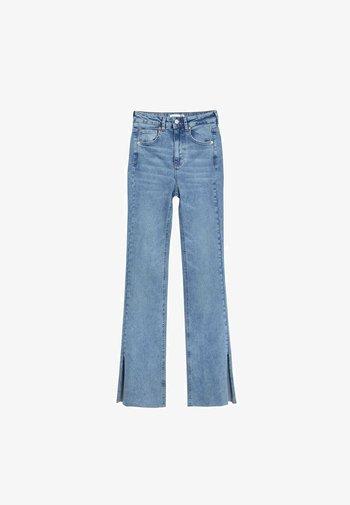 Slim fit jeans - mottled royal blue