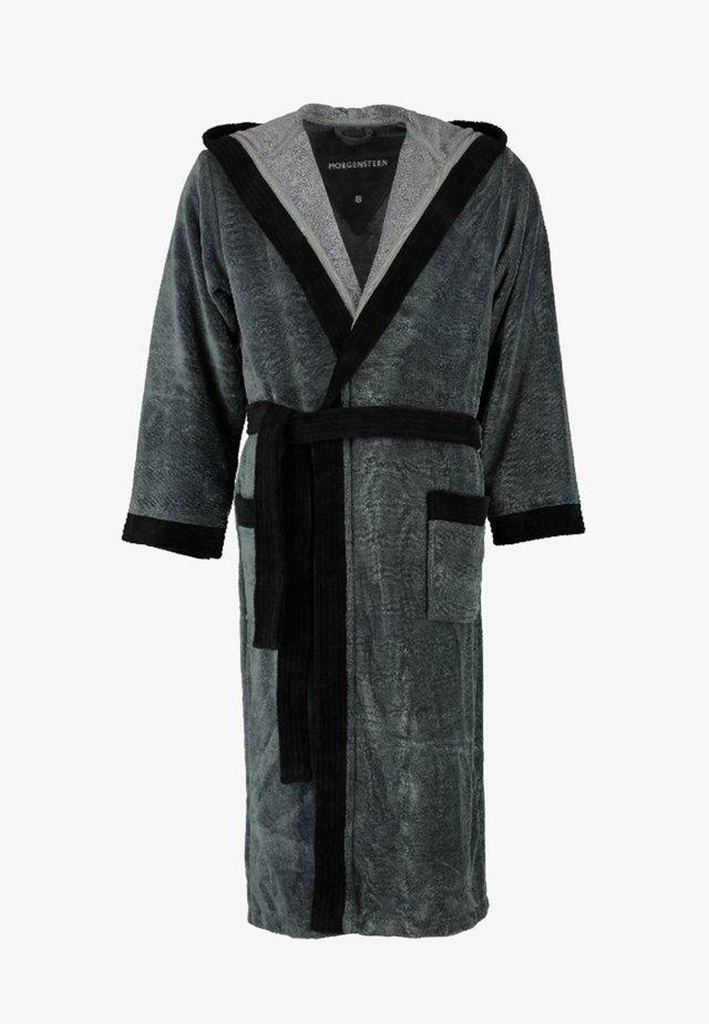ELIO - Dressing gown - anthrazit/schwarz