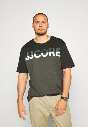 JCOSTALLY TEE CREW NECK - T-shirt print - pirate black