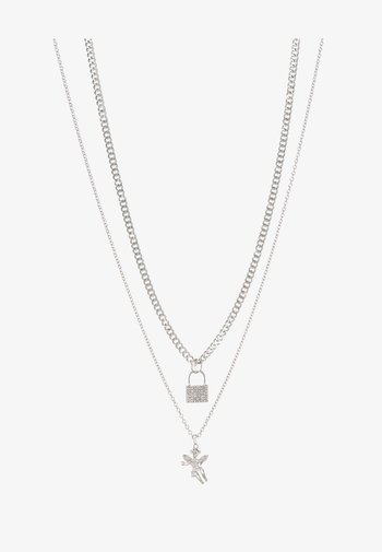 CHERUB PADLOCK 2 PACK - Halsband - silver-coloured