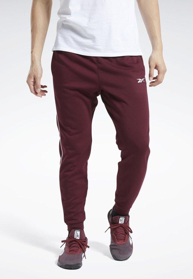 WORKOUT READY JOGGERS - Pantalon de survêtement - burgundy
