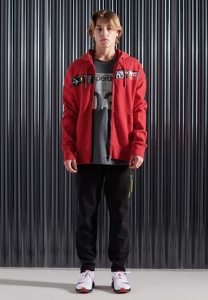 CORE LOGO TRANSIT - Zip-up hoodie - rouge red