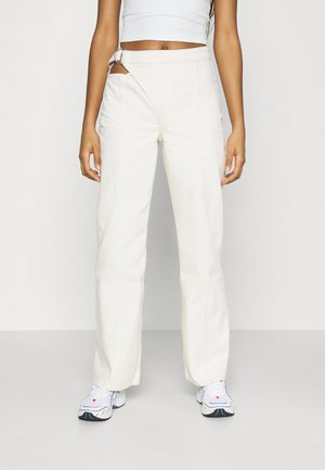 HOOP TROUSERS - Flared Jeans - ecru