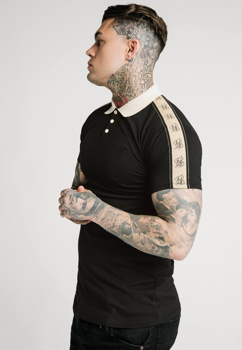 SIKSILK - SIKSILK PREMIUM TAPE  - Polo - black & off white