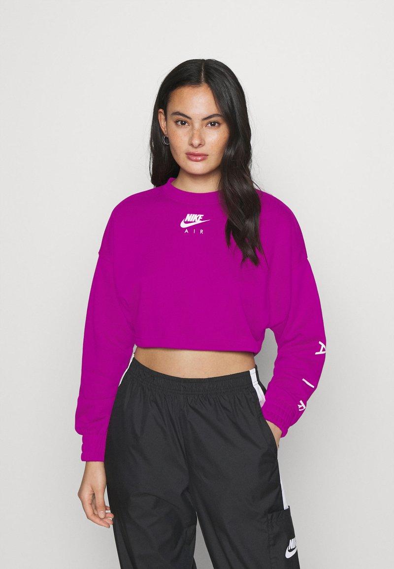 Nike Sportswear - AIR CREW CROP - Sweatshirt - cactus flower/white
