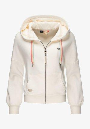 GOBBY ZIP INTL - Zip-up sweatshirt - white