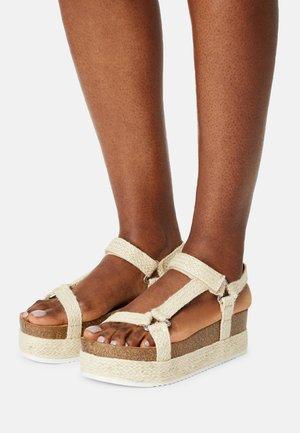 ALIGOLITH - Korkeakorkoiset sandaalit - natural