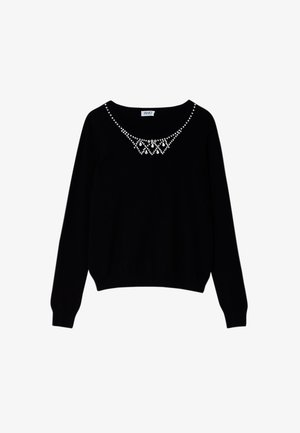 WITH JEWEL EMBROIDERY - Jumper - black
