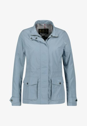 "BARBOUR DAMEN JACKE ""LUCIE SHOWERPROOF"" - Outdoor jacket - light blue"