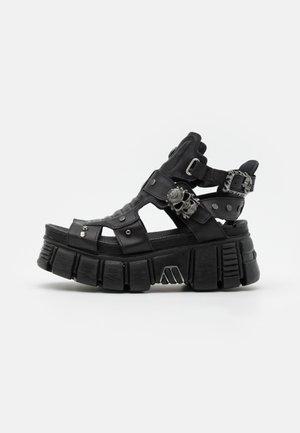 UNISEX - Platform sandals - black