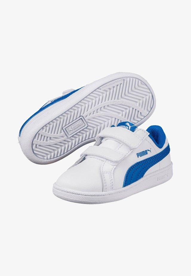 SMASH LEATHER - Baskets basses - puma white-lapis blue
