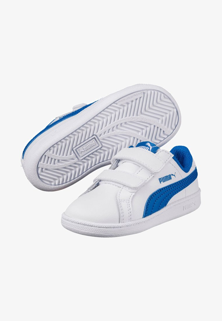 Puma - SMASH LEATHER - Trainers - puma white-lapis blue
