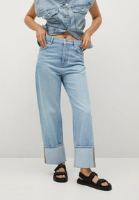 Mango - Straight leg jeans - lichtblauw - 0