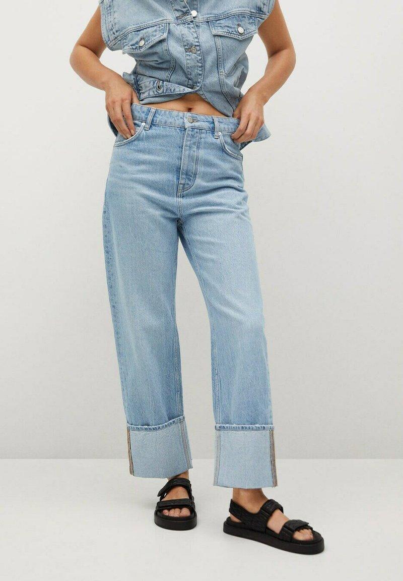 Mango - Straight leg jeans - lichtblauw