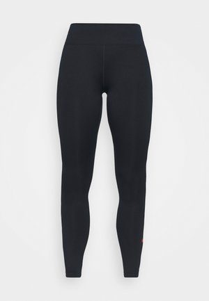 FRANKREICH FFF ONE - Leggings - dark obsidian/university red