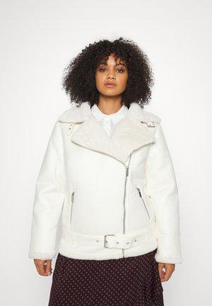 AVIATOR - Faux leather jacket - ecru