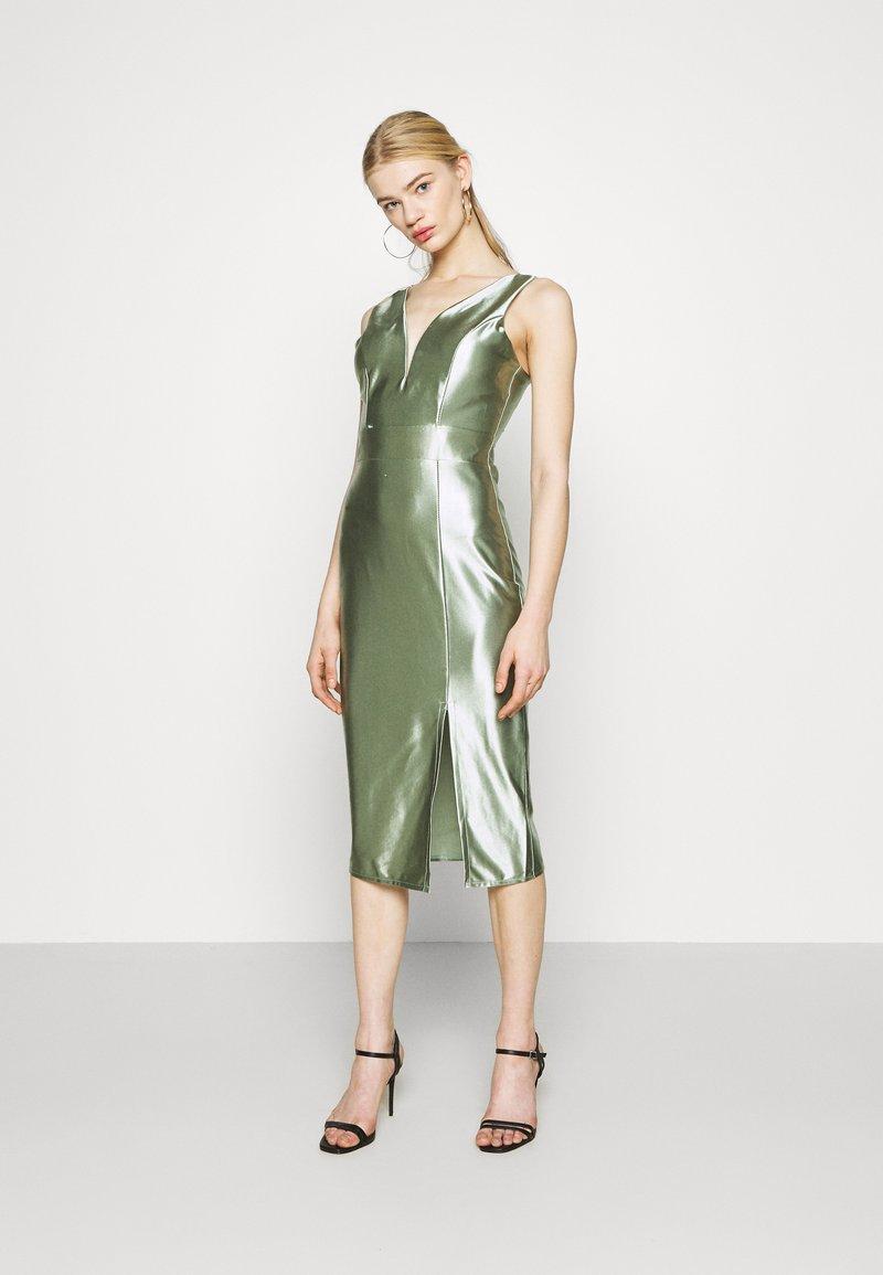 WAL G. - LIBBY V NECK MIDI DRESS - Cocktail dress / Party dress - mint green