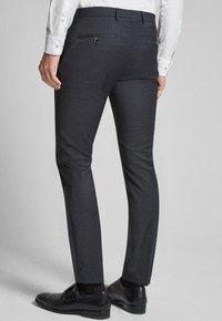 JOOP! - GUN - Pantaloni eleganti - mottled black-gray - 2