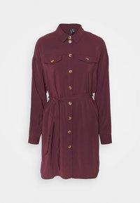 Vero Moda - VMCOCO DRESS  - Shirt dress - winetasting - 4
