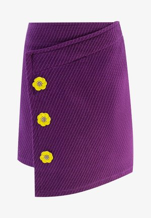 WITH FLOWERS - Wrap skirt - purple