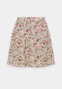 Vila - VIMILINA MINI SKIRT - Mini skirt - green milieu/red/pink - 1