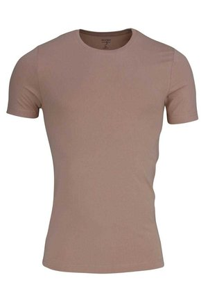 MIT RUNDHALS  - Basic T-shirt - creme - beige